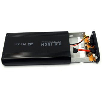 Aluminum 3.5 Inch IDE / SATA USB 2.0 External Hard Drive Disk Case HDD Enclosure with Dock and 2A UK Power Adapter