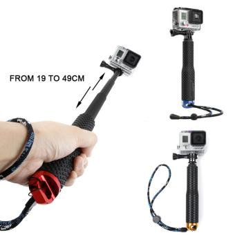 Aluminum Alloy Extendable Self Selfie Stick Handheld Monopod Dive Since for Gopro Hero 4 3+ 3 2 sj4000 Xiaomi yi Sport Camera - intl