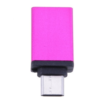 Aluminum Alloy USB3.1 Type-C to USB3.0 OTG Converter Adapter(pink)- intl