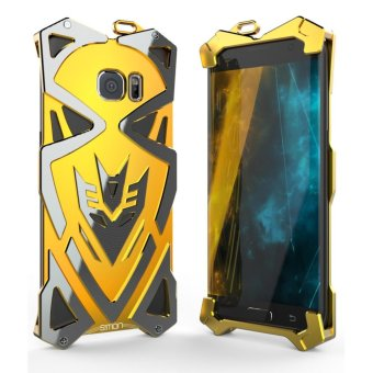 Aluminum Metal Frame 2 Back Cover Case for S amsung Galaxy S6 Edge (Gold) - intl