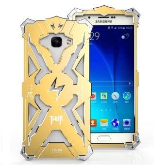 Aluminum Metal Frame Back Cover Case for S amsung Galaxy A7 2017(Gold) - intl