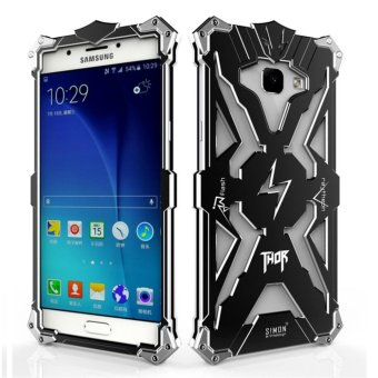 Aluminum Metal Frame Back Cover Case for Samsung Galaxy A7 2017 (Black) - intl