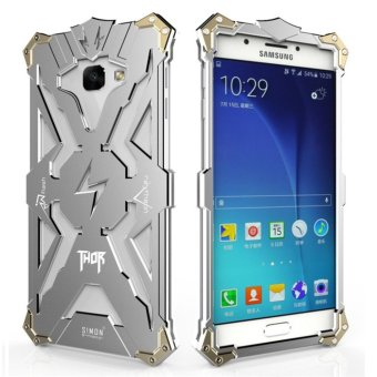 Aluminum Metal Frame Back Cover Case for Samsung Galaxy A7 2017(Silver) - intl