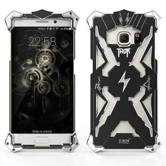 Aluminum Metal Thor Back Case For Samsung Galaxy S7 Edge (Black) -intl