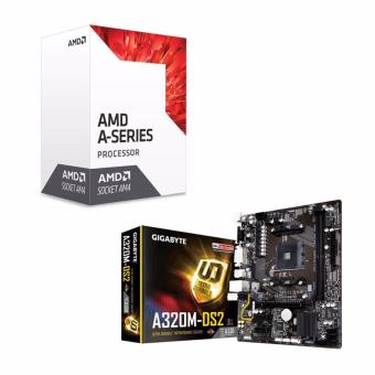 AMD 7th Gen A10-9700 Quad Core AM4 3.8GHz APU Processor with RadeonR7 Graphics and GIGABYTE GA-A320M-DS2 AM4 (A320 Chipset) Micro-ATXMotherboard Bundle Price Philippines
