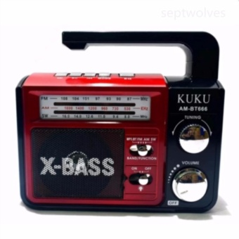 AM/FM/SW 3 Band Radio(Red/Silver)USB/SD/TF MP3 Music Player Portable Rechargeable With Bluetooth Speaker