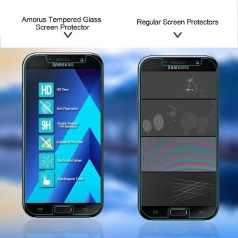 AMORUS Tempered Glass Screen Protector Mobile Film for Samsung Galaxy A7 ( 2017) A720 .