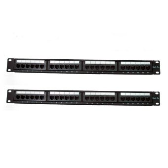 AMP 24-Ports Cat6 Patch Panel Set of 2