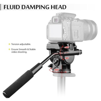 Andoer ABS 360? Fluid Drag Video Action Head Panoramic Hydraulic Damping Photographic Head for Canon Nikon Sony DSLR Camera Camcorder for Tripod Monopod Slider Shooting Filming - intl