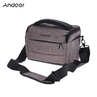 Andoer Cuboid-shaped DSLR Camera Shoulder Bag Portable FashionPolyester Camera Case for 1 Camera 2 Lenses and Small Accessoriesfor Canon Nikon Sony FujiFilm Olympus Panasonic - intl