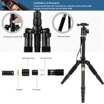 Andoer Digital Camera Camcorder Video Tripod Monopod Ball Head (Black) - 2