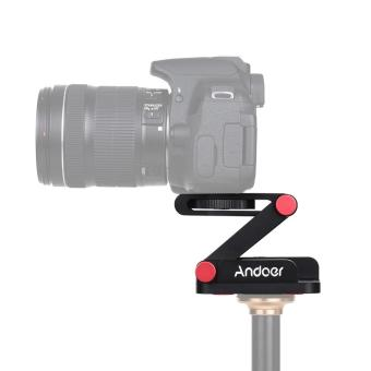 Andoer New Z-shaped Aluminum Alloy Foldable Camera CamcorderDesktop Holder Quick Release Plate Tilt Head for Nikon Canon SonyPentax DSLR Camera Video Track Slider Tripod Film MakingMacrophotography Outdoorfree - intl