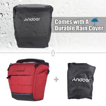 Andoer Portable DSLR Camera Shoulder Bag Sleek Polyester Camera Case for 1 Camera 1 Lens and Small Accessories for Canon Nikon Sony Fujifilm Olympus Panasonic - intl - 4