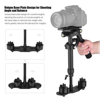 Andoer S40 Professional 40cm Aluminum Alloy Handheld Stabilizerwith Quick Release Plate and Clamp Base for Canon Nikon Sony DSLRCameras Lightweight Camcorders Max Load 2kg - intl - 3