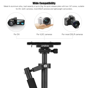 Andoer S40 Professional 40cm Aluminum Alloy Handheld Stabilizerwith Quick Release Plate and Clamp Base for Canon Nikon Sony DSLRCameras Lightweight Camcorders Max Load 2kg - intl - 4