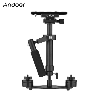 Andoer S40 Professional 40cm Aluminum Alloy Handheld Stabilizerwith Quick Release Plate and Clamp Base for Canon Nikon Sony DSLRCameras Lightweight Camcorders Max Load 2kg - intl