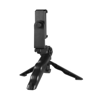 Andoer Universal Mini Phone Tripod Stand Handheld Grip Stabilizer with Adjustable Smartphone Clip Holder Bracket for iPhone 7 Plus/7/6/6 Plus/6s for Samsung Galaxy S7/S6 ^ - intl