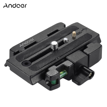 Andoer Video Camera Tripod Quick Release Clamp Adapter with QuickRelease Plate Compatible for Manfrotto 501 500AH 701HDV 503HDV Q5Head Outdoorfree - intl - 3