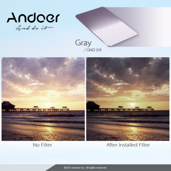 Andoer Z Series Soft Square Filter Graduated Neutral Density GND8Grad ND 0.9 for Lee and Cokin Z-Pro Holders (Intl)