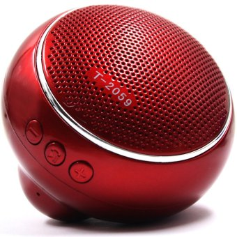 Android Essentials T-2059 Portable Wireless Bluetooth Speaker (Red)