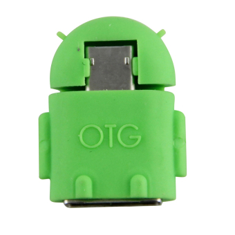 Android Robot Micro USB Host OTG Adapter Cable(Green) - intl