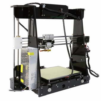 Anet A8 High Precision Big Size Desktop 3D Printer Kits Reprap Prusa i3 DIY Self Assembly LCD Screen with 8GB SD Card Printing Size 220*220*240mm Support ABS/PLA/HIP/PP/Wood Filament Black - intl - 5