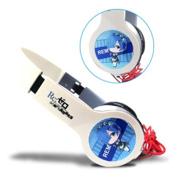 Anime - Re: Zero Rem Design Headphone ( White )