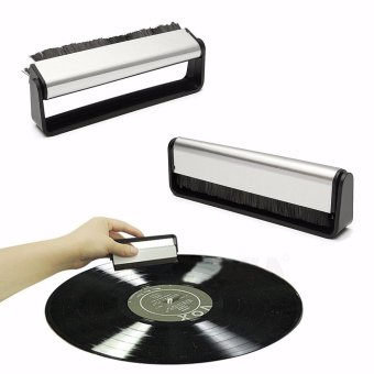 Anti-Static Vinyl Record Cleaning Cleaner Pad Brush Audio Stylus Dust Remover - intl
