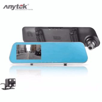 Anytek T1C 4.3 inch HD Car Rear View Mirror Dash Camera Recorder(Gold)