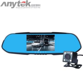 Anytek X7 Dual Lens Auto DVR Camera Car Video Recorder RearviewMirror 1080P G-Sensor Motion Detection Dash Cam