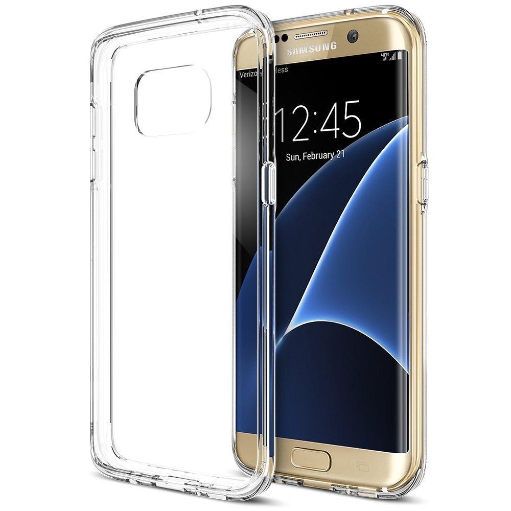 ... Aokery Galaxy S7 Edge Case, Trianium [Clear Cushion] Premium Bumper TPU / PC ...