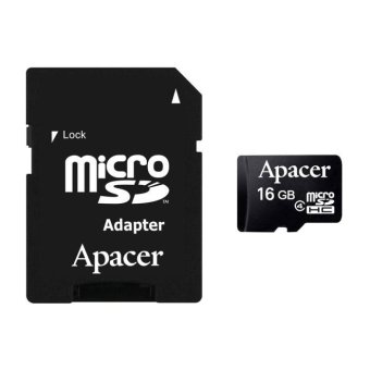Apacer Micro SDHC Class 4 16GB AP16GMCSH4-R with Adapter