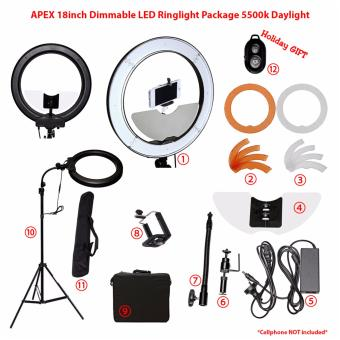 APEX 18inch Dimmable LED Ringlight Ultimate Package