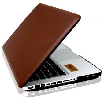 Apple Essentials Leather Coated Case for Macbook Air 13.3 (Brown)