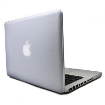 Apple Essentials Matte Hard case for Macbook Air 13.3 inches (Translucent White)