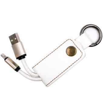Apple Essentials Sachiel Lightning to USB Cable with Keychain(White)