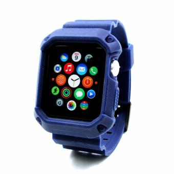 Apple Essentials Sporty TPU Strap for Apple Watch 38mm (Navy) - 2