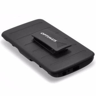 Apple iPhone 5 /5s /SE Optimus Designer (Black) Phone Case with Kickstand - 4