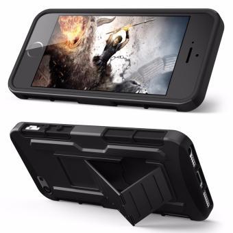 Apple iPhone 5 /5s /SE Optimus Designer (Black) Phone Case with Kickstand - 3