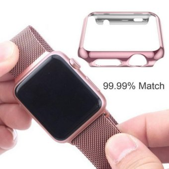 Apple Watch 38mm Series 1 SCREEN PROTECTOR CASE,Ultra Thin 9HHardness [Full Coverage] Electroplate Screen Protector with MetalBumper - intl - 3