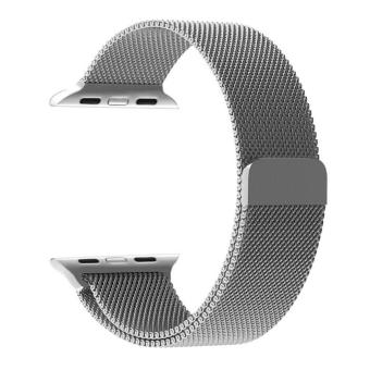 Apple Watch Band, Penom Fully Magnetic Closure Clasp Mesh Loop Milanese Stainless Steel Bracelet Strap for Apple iWatch Sport & Edition 42mm - intl
