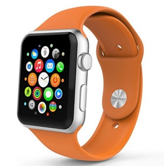 Apple Watch Band Series 1 Series 2, Soft Silicone ReplacementSports Band for 38mm Apple Watch 2015 & 2016 All Models - intl