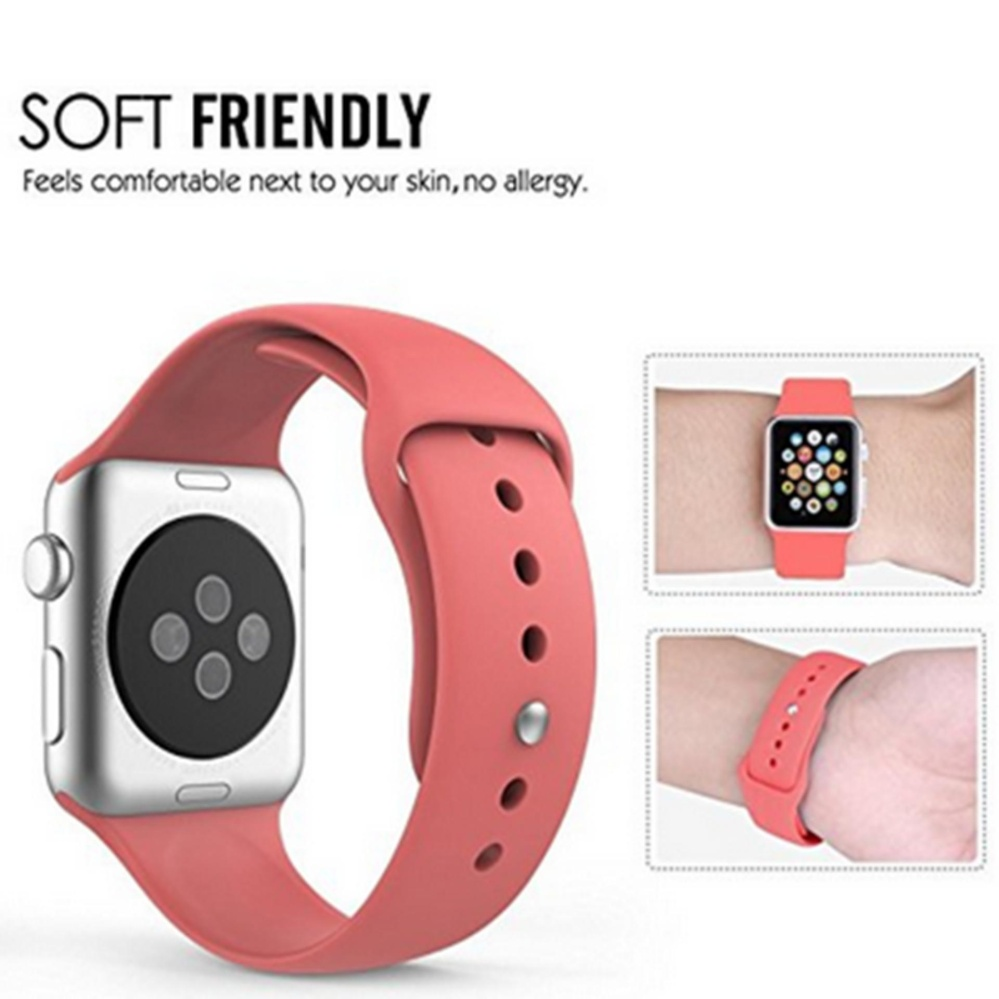 Apple Watch Band Series 1 Series 2, Soft Silicone ReplacementSports Band for .