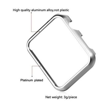 Apple Watch Series 2 Case 38mm,Full Cover Apple Watch Series 2/NikeCase Slim Hard PC Plated Protective Bumper Cover & 0.2mmShockproof Sheld Guard Screen Protector for iWatch 2016 - intl - 4