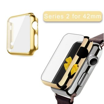 Apple Watch Series 2 Case 42mm,Full Cover Apple Watch Series 2/NikeCase Slim Hard PC Plated Protective Bumper Cover & 0.2mmShockproof Sheld Guard Screen Protector for iWatch 2016 - intl