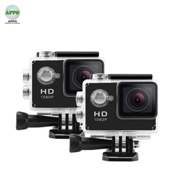 APPO A7 Ultra HD 1080P Waterproof Sports Action Camera Set of 2(Black)