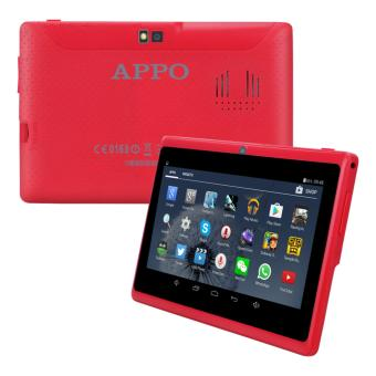 APPO A7 Wifi Upgraded HD Screen 512MB RAM 8GB ROM Quad-Core Cortex A7 1.5G Hz Tablet (Red)