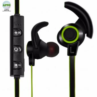 APPO AMW-810 Bluetooth 4.1 Stereo Wireless In-Ear Sports Earphone With Microphone (Black/Green)