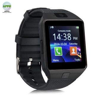 APPO DZ09 Bluetooth Phone Quad Smart Watch Touchscreen with Camera (Black)
