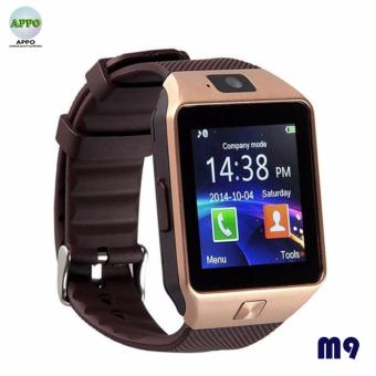 APPO M9 Bluetooth Phone Quad Smart Watch Touchscreen with Camera(Gold)